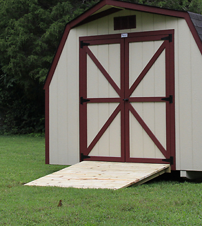 10x14 optional ramp on backyard storage for sale