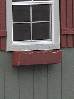 window flower box option for prefab storage buildings in KY