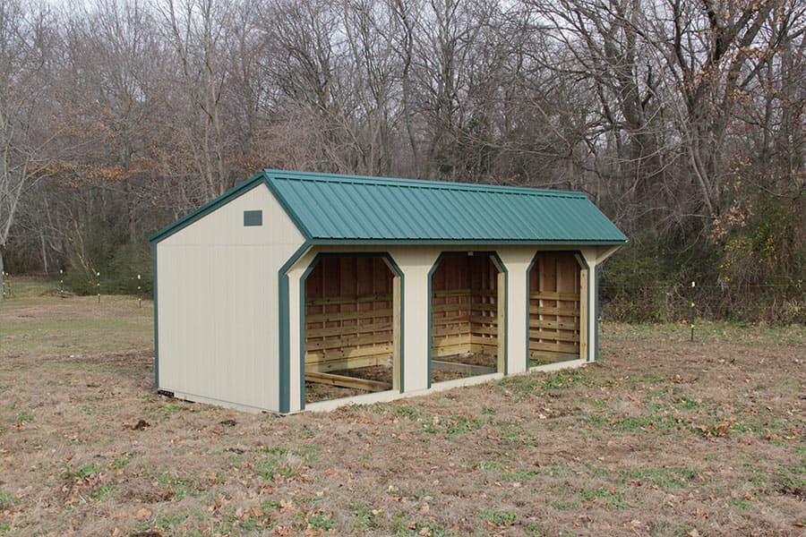 horse run in shed and chicken coop designs in ky tn