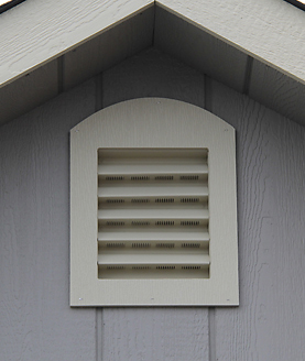 2 Garden Vent Option on Storage Buildings for Sale