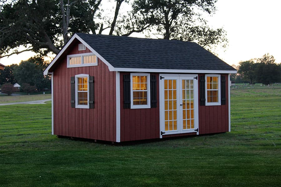 Photo gallery of the lancaster style shed from overholt in for Small barn designs