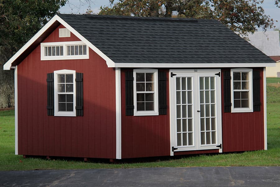 Photo gallery of the lancaster style shed from overholt in for Garden building design ideas