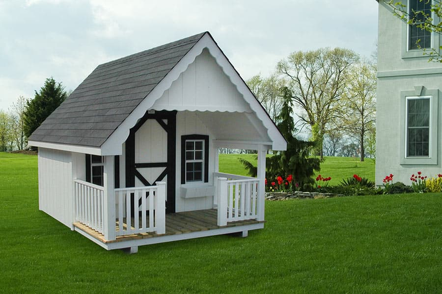 Cabin design ideas kids playhouses from overholt sons for Kids cabin playhouse