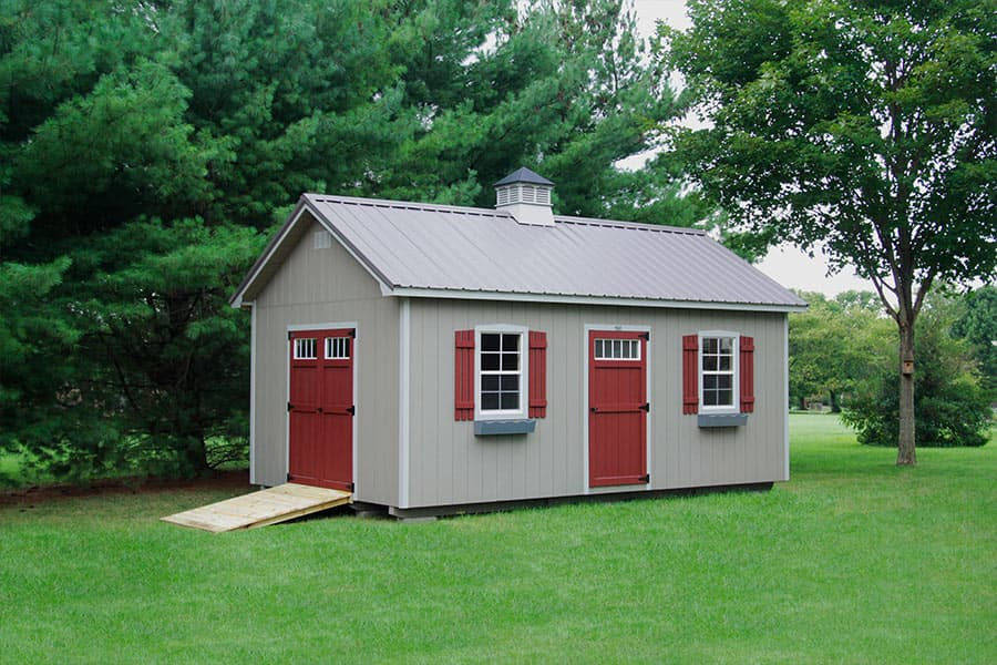 Photo gallery of the lancaster style shed from overholt in russellville ky