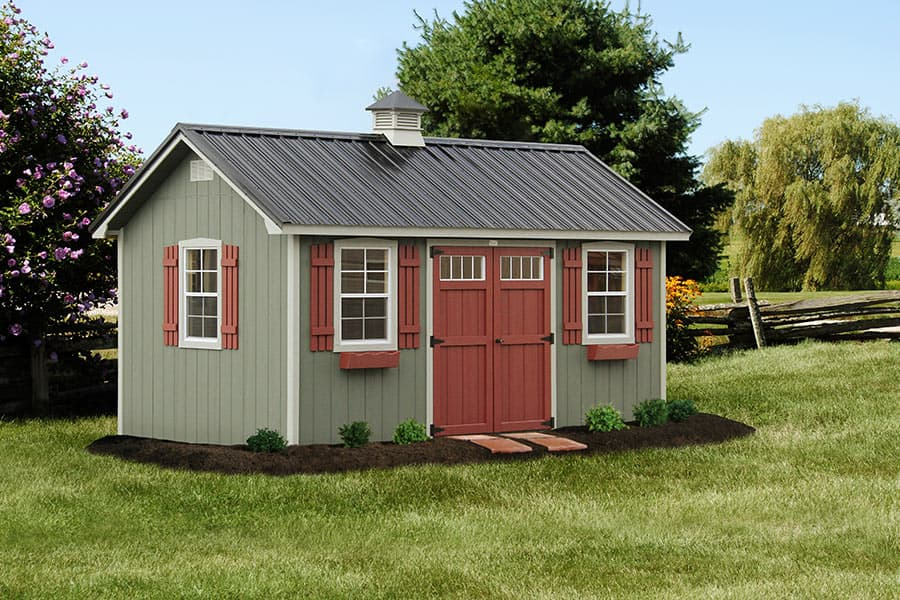 Photo gallery of the lancaster style shed from overholt in for Quaker barn home designs